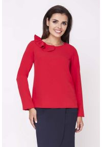 Czerwona bluzka Nommo elegancka