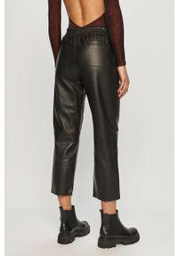 Czarne spodnie materiałowe Pinko z podwyższonym stanem, casualowe, na co dzień