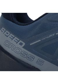 Niebieskie buty do biegania salomon Salomon Speedcross, na płaskiej podeszwie, z cholewką