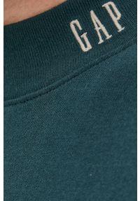 GAP - Bluza bawełniana. Okazja: na co dzień. Kolor: zielony. Materiał: bawełna. Wzór: gładki. Styl: casual