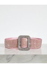 BENEDETTA BRUZZICHES - Różowy pasek z kryształów Venus. Kolor: różowy, fioletowy, wielokolorowy. Materiał: jedwab, satyna