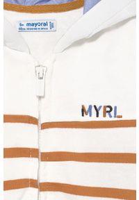 Beżowa bluza rozpinana Mayoral na co dzień, casualowa, z kapturem
