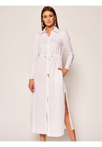Biała sukienka koszulowa Patrizia Pepe