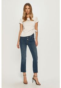Niebieskie proste jeansy Liu Jo na co dzień, casualowe