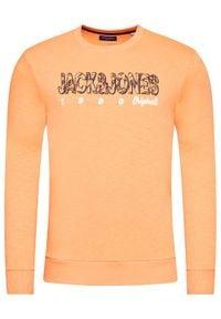 Jack & Jones - Jack&Jones Bluza Lefo 12185696 Pomarańczowy Regular Fit. Kolor: pomarańczowy