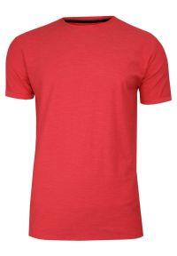 Czerwony t-shirt Brave Soul casualowy, z krótkim rękawem, krótki, melanż