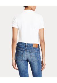 Ralph Lauren - RALPH LAUREN - Koszulka Polo Slim Fit. Typ kołnierza: polo. Kolor: biały. Materiał: bawełna, materiał. Wzór: haft, aplikacja