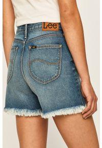 Niebieskie szorty Lee na co dzień, casualowe