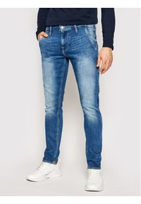 Guess Jeansy Adam M1RA81 D4B71 Granatowy Skinny Fit. Kolor: niebieski