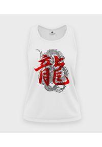 MegaKoszulki - Koszulka damska bez rękawów Smok kanji. Materiał: bawełna. Długość rękawa: bez rękawów