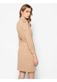 Beżowa sukienka koszulowa Pinko