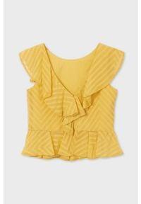 Mayoral - Bluzka dziecięca. Okazja: na co dzień. Kolor: pomarańczowy. Materiał: poliester, tkanina, materiał, bawełna. Długość rękawa: bez rękawów. Wzór: gładki. Styl: elegancki, casual #3