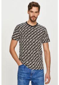 Czarny t-shirt Calvin Klein Jeans na co dzień, casualowy