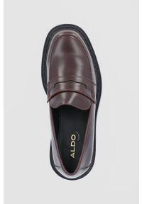 Aldo - Mokasyny BIGSTRUT. Nosek buta: okrągły. Kolor: brązowy. Materiał: guma. Obcas: na obcasie. Wysokość obcasa: niski
