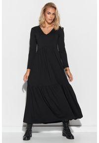Czarna sukienka Makadamia maxi