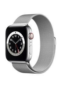 Srebrny zegarek APPLE wakacyjny, smartwatch