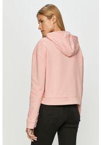 Różowa bluza Vans z kapturem, na co dzień, casualowa