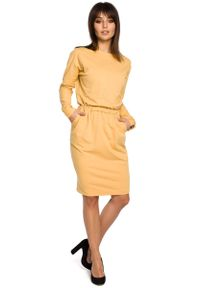 Żółta sukienka dresowa MOE
