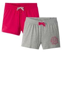Różowe spodnie bonprix krótkie, melanż