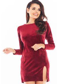 Czerwona sukienka Awama mini, ołówkowa