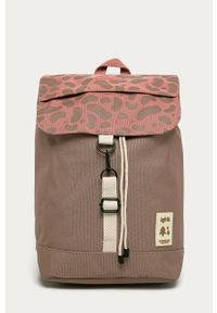 Różowy plecak Lefrik z nadrukiem