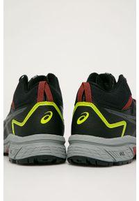 Czarne sneakersy Asics na sznurówki, z cholewką