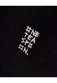 ONETEASPOON - Czarny t-shirt Rocn'n'Roll. Kolor: czarny. Wzór: napisy, nadruk. Styl: rockowy