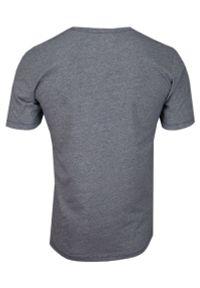 Pako Jeans - Granatowy Bawełniany T-Shirt -PAKO JEANS- Męski, Krótki Rękaw, Dekolt w Serek z Guzikami. Okazja: na co dzień. Typ kołnierza: dekolt w serek. Kolor: niebieski. Materiał: bawełna. Długość rękawa: krótki rękaw. Długość: krótkie. Styl: casual