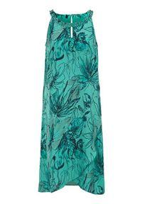 Cellbes Sukienka bez rękawów z koralikami akwamaryna we wzory female niebieski/ze wzorem 42/44. Kolor: niebieski. Materiał: jersey, materiał. Długość rękawa: bez rękawów. Styl: wizytowy