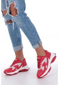 Casu - Czerwone buty sportowe sneakersy sznurowane casu ds13003. Kolor: czerwony