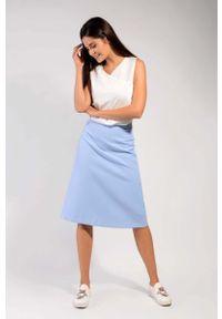 Niebieska spódnica trapezowa Nommo