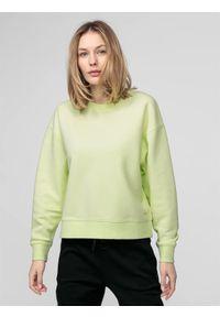 4f - Bluza damska. Okazja: na co dzień. Kolor: zielony. Materiał: dzianina. Styl: casual