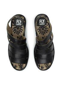 Czarne sandały Fly London na co dzień, casualowe