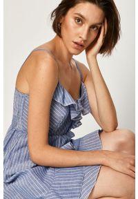 Niebieska sukienka ANSWEAR mini, wakacyjna, prosta, na co dzień