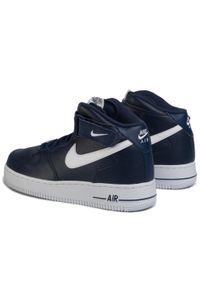 Niebieskie półbuty Nike casualowe, z cholewką, na co dzień