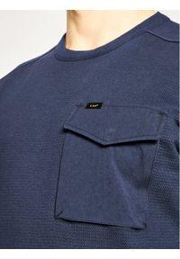 Lee Bluza Military L80FELNM Granatowy Regular Fit. Kolor: niebieski