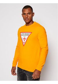 Guess Bluza Audley M0BQ37 K7ON1 Żółty Slim Fit. Kolor: żółty
