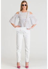 Białe jeansy Diesel z podwyższonym stanem, klasyczne #7