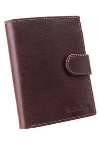 Portfel męski brązowy Badura PO_M026BR_CE. Kolor: brązowy. Materiał: skóra