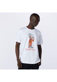 T-shirt New Balance z krótkim rękawem, z aplikacjami, na co dzień, casualowy