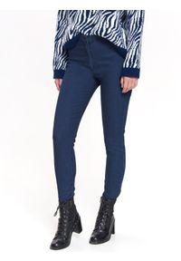 Niebieskie spodnie TROLL na lato, z podwyższonym stanem