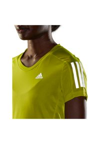 Adidas - Koszulka damska do biegania adidas Own The Tee GJ9983. Materiał: skóra, poliester, materiał. Długość rękawa: krótki rękaw. Długość: krótkie. Sport: fitness