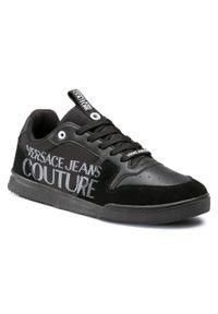 Czarne półbuty Versace Jeans Couture z cholewką, casualowe, na co dzień