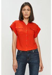 Czerwona koszula Silvian Heach klasyczna, na co dzień