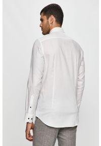 Biała koszula Tommy Hilfiger Tailored z włoskim kołnierzykiem, długa, elegancka, z długim rękawem