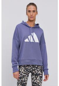 adidas Performance - Bluza. Kolor: fioletowy. Materiał: materiał