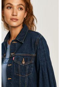 Niebieska kurtka Levi's® bez kaptura, w kolorowe wzory, biznesowa