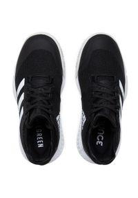 Czarne buty do fitnessu Adidas z cholewką, na płaskiej podeszwie