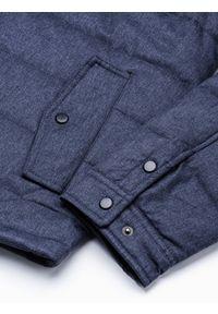 Niebieska kurtka Ombre Clothing elegancka, na wiosnę #9