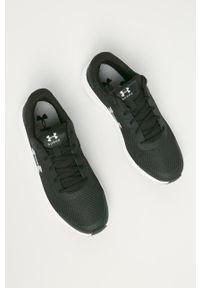 Czarne buty sportowe Under Armour z cholewką, na sznurówki